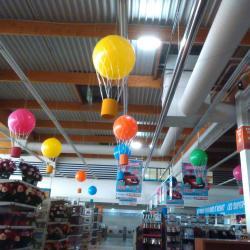 Montgolfière en ballons pour anniversaire