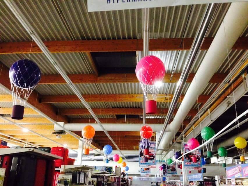 Montgolfière en Ballon de baudruche