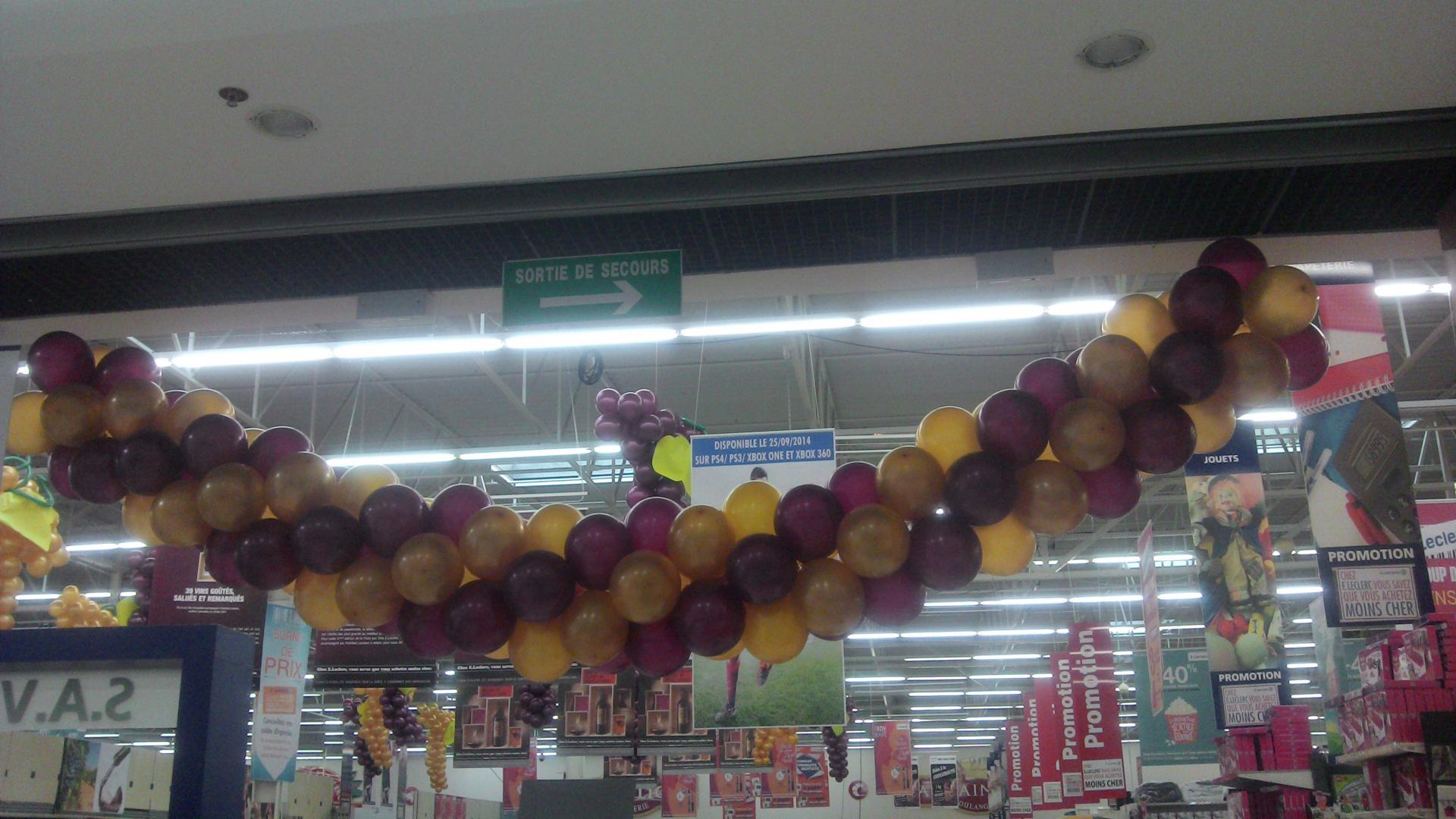 Arche d'entrée avec ballons