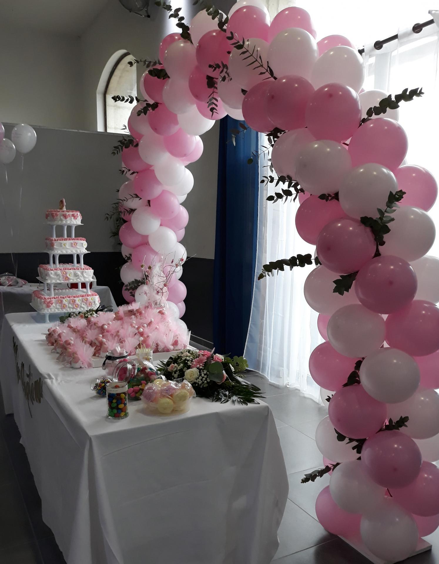 Arche ballon buffet desserts