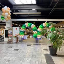 Arche ballon entrée magasin