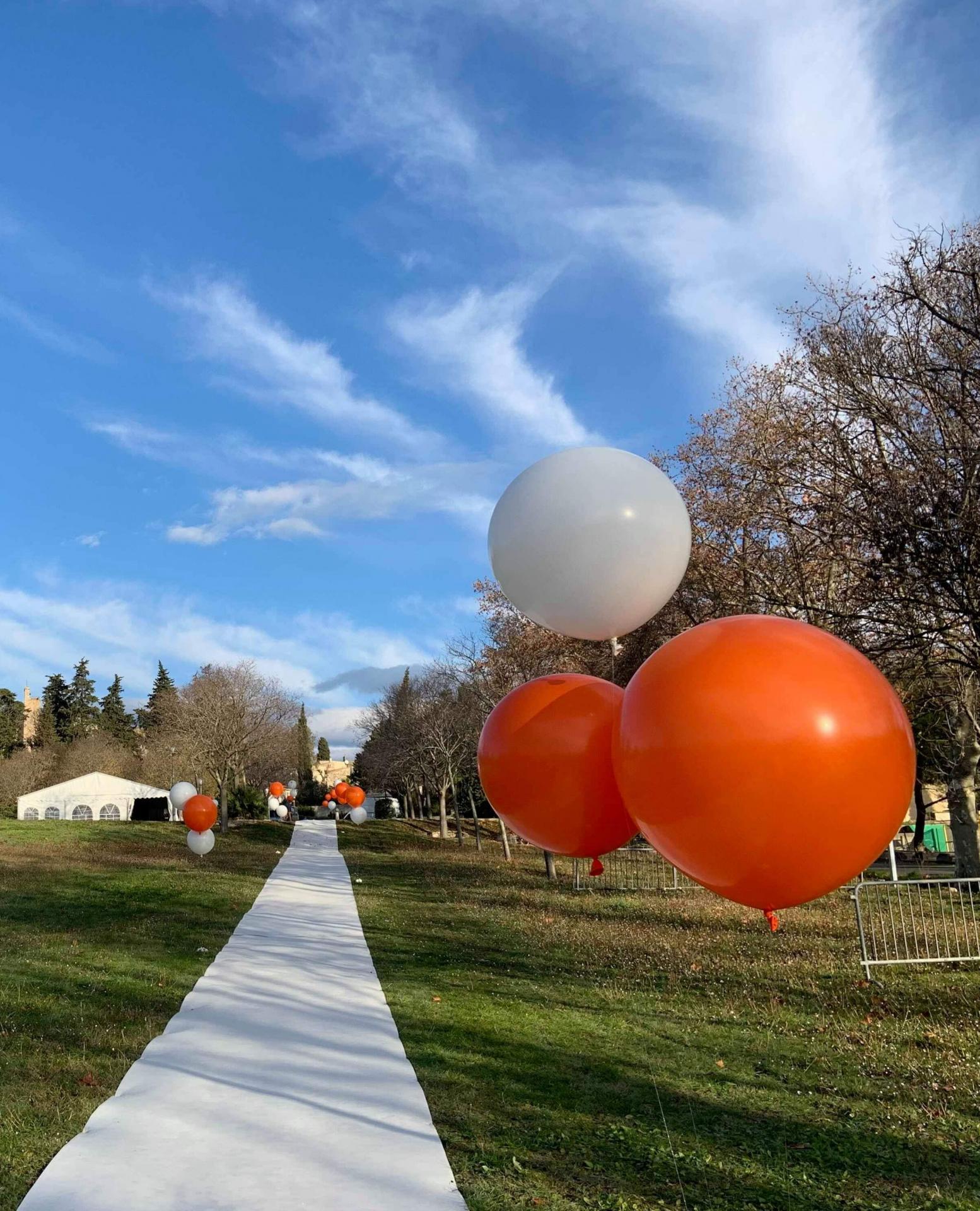 Balisage évènement gros ballon helium