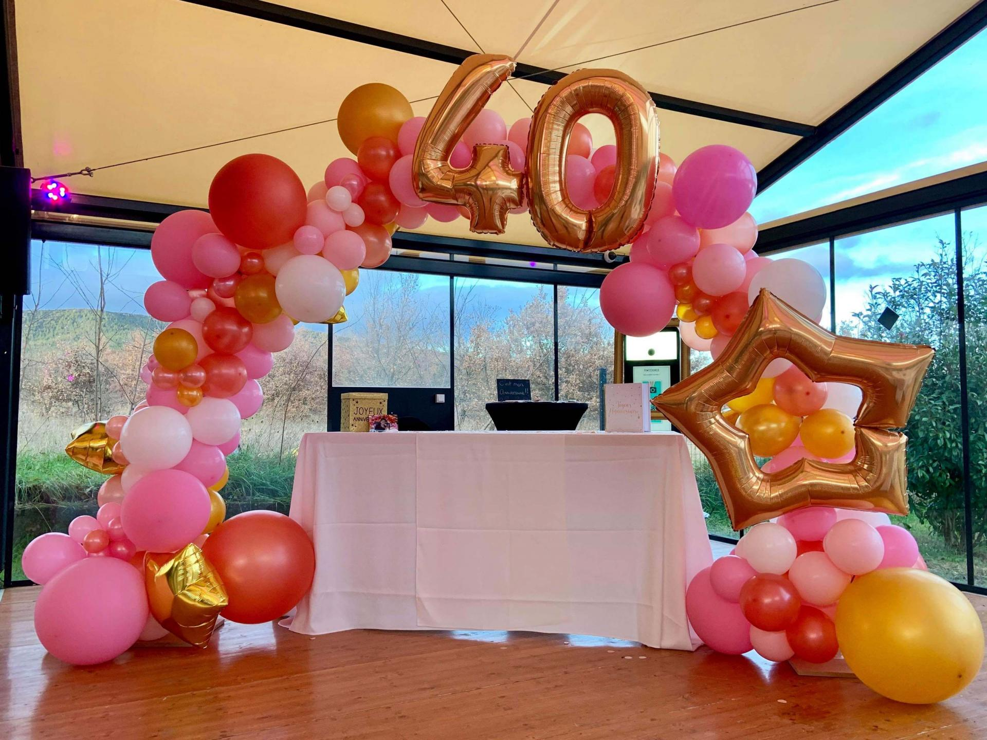 Arche anniversaire ballon Aix en Provence