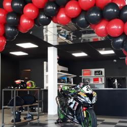 Ballon rouge et noir