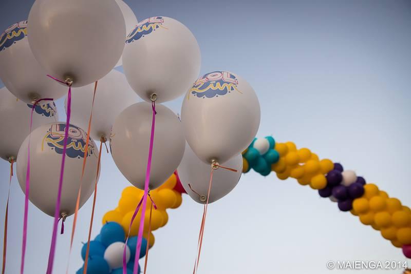 Ballons imprimés LOL and RUN 3 couleurs