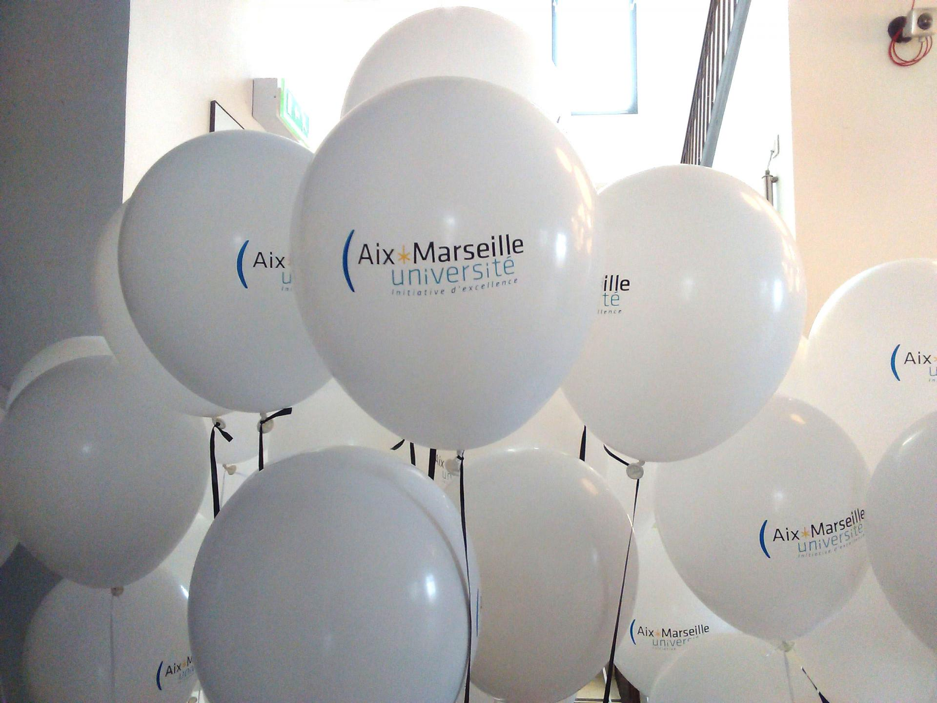 Ballons personnalisés hélium Mucem