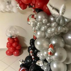 Arche organique de ballons pour Noël