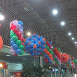 Déco de ballon pour hypermarché