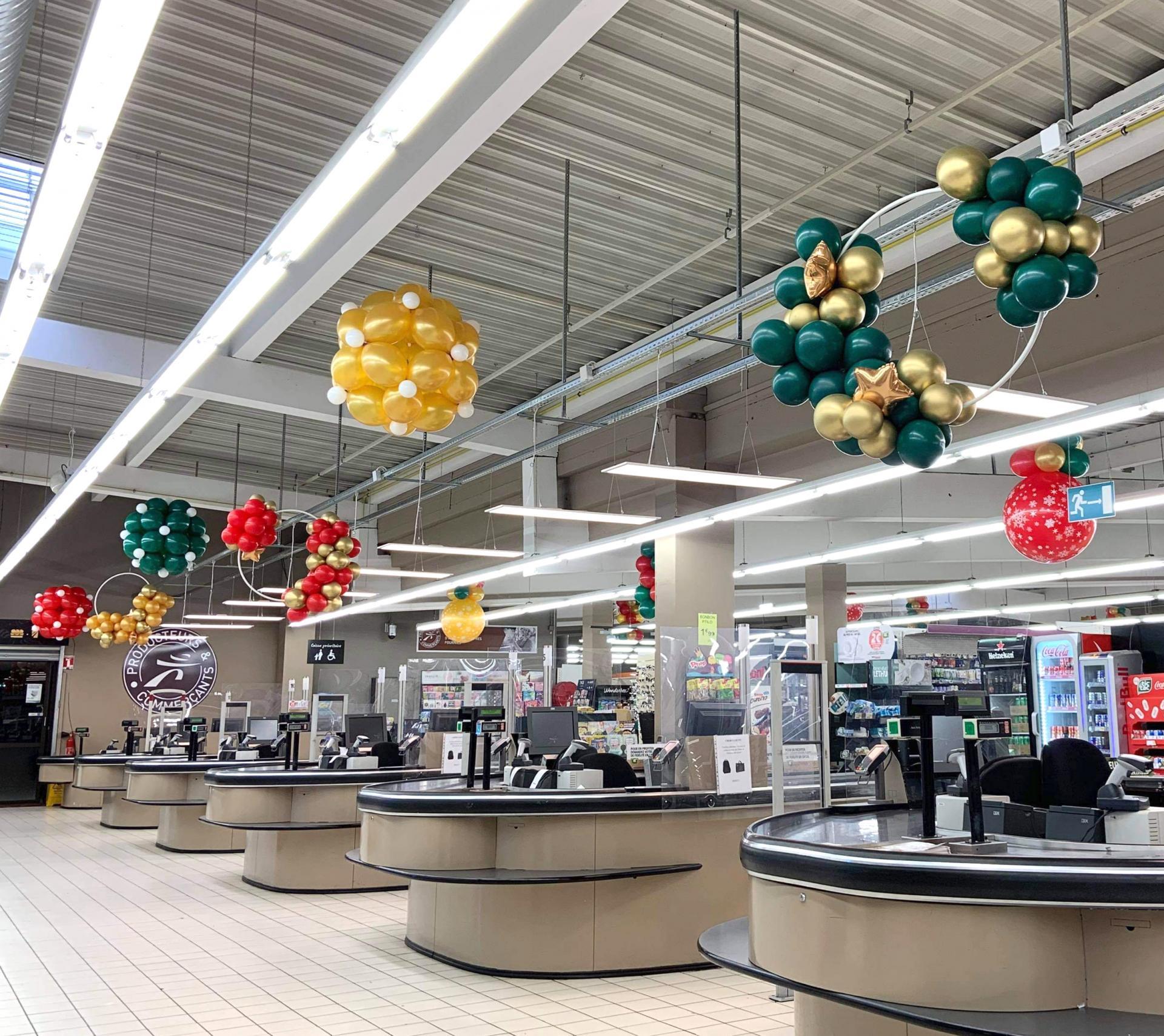 Guirlandes ballons magasin