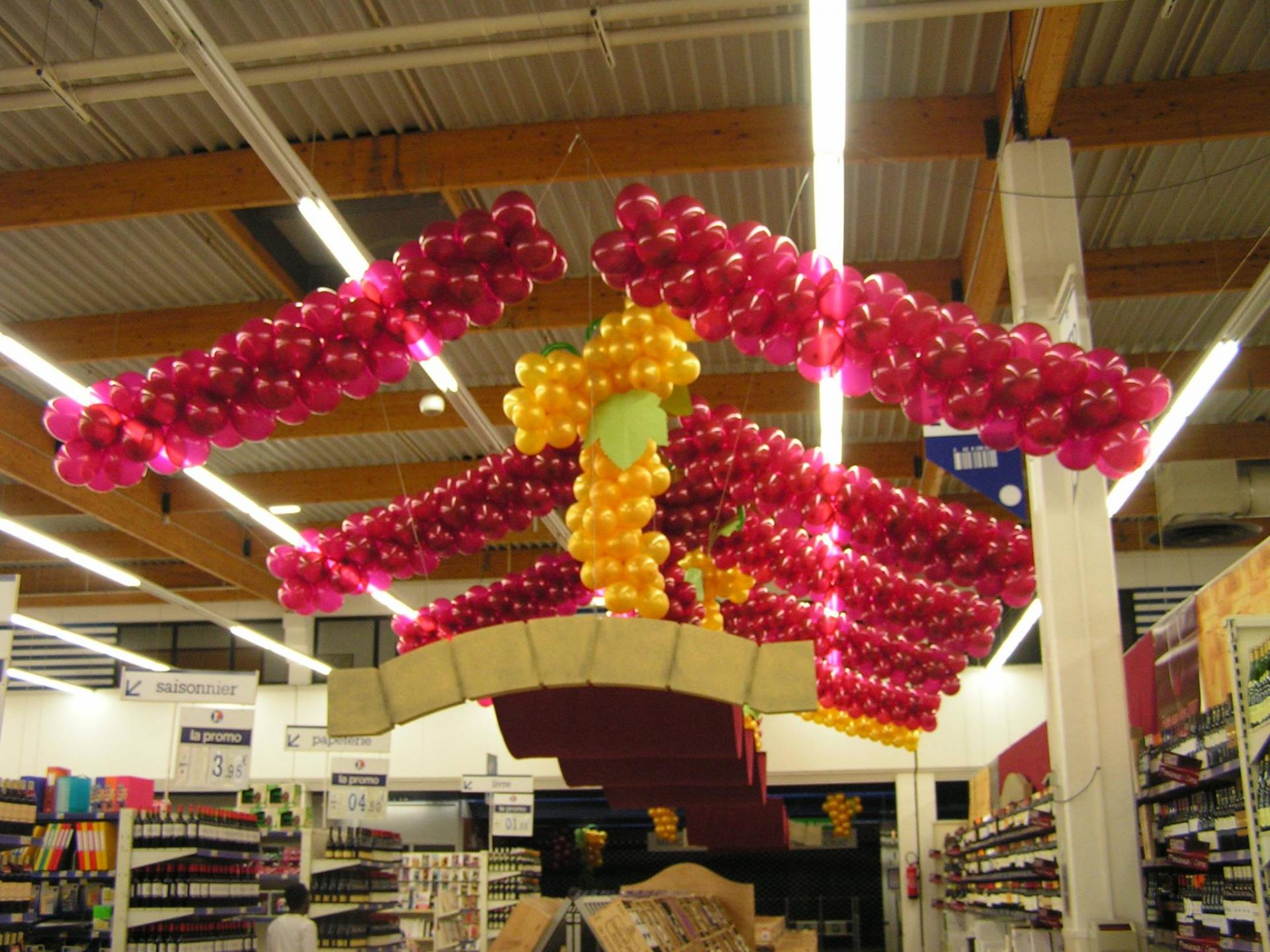 Décor Ballons pour la  fête du vin