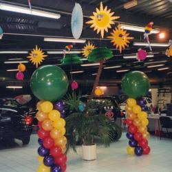 Décoration Ballons thème exotique concession Toyota