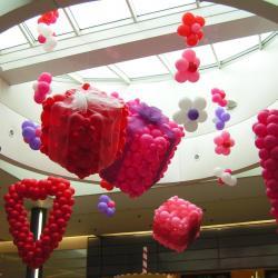 Ballons Saint Valentin galerie marchande