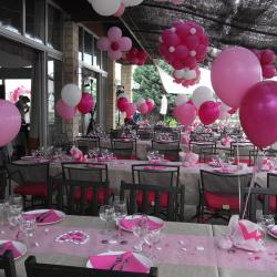 Ballons Mariage : tons roses et blanc
