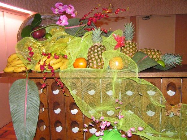Décoration buffet de fruits exotiques