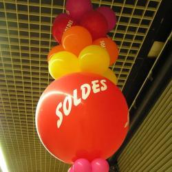 Ballons imprimés SOLDES en 1 couleur