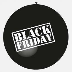 Gros ballon noir black friday