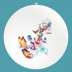 Ballon imprimé en quadri