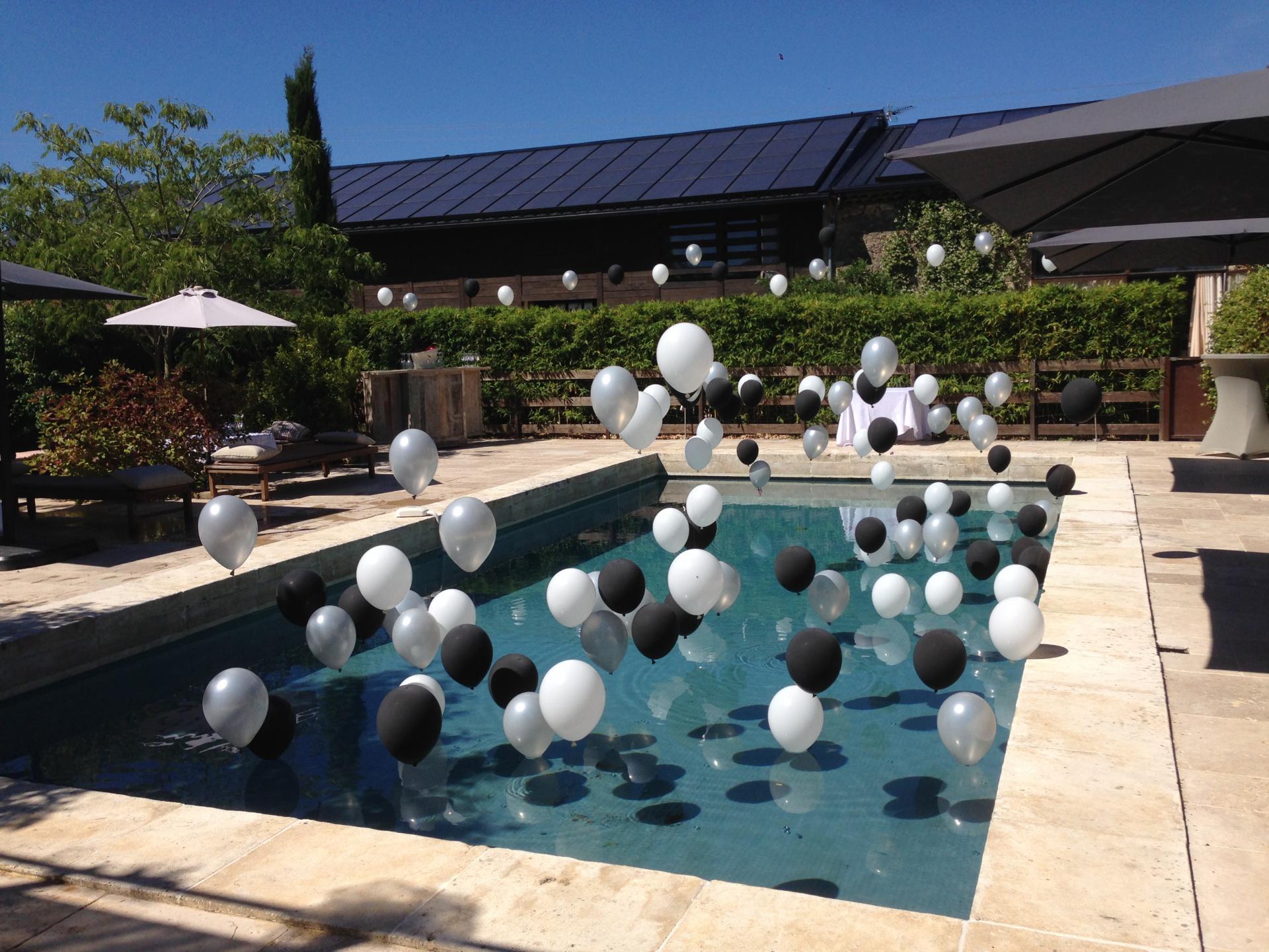 Ballon hélium lesté décoration piscine