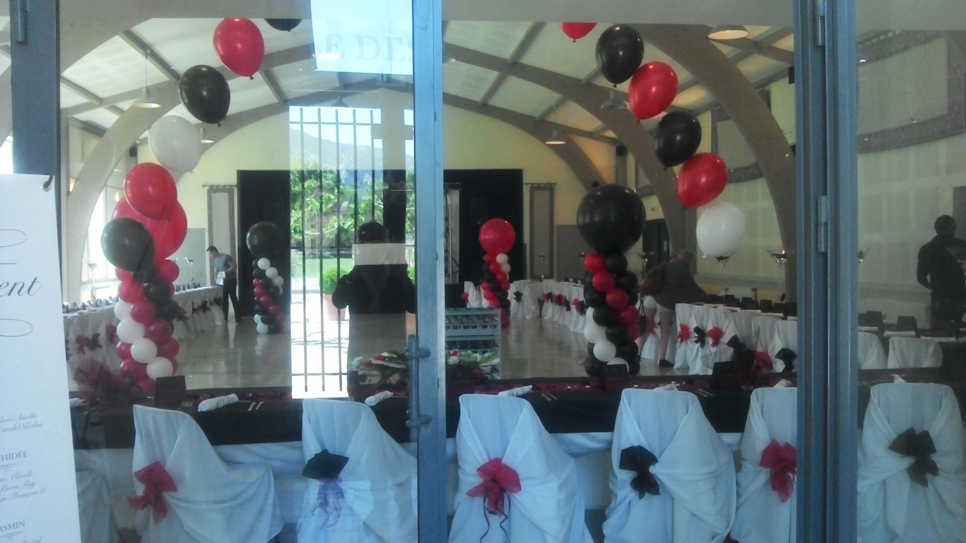 D coration ballons pour mariage prestation d cor en ballon - Decoration ballon mariage ...
