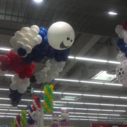 Décoration Ballons Coupe du monde foot 2014 Leclerc Morières les Avignon
