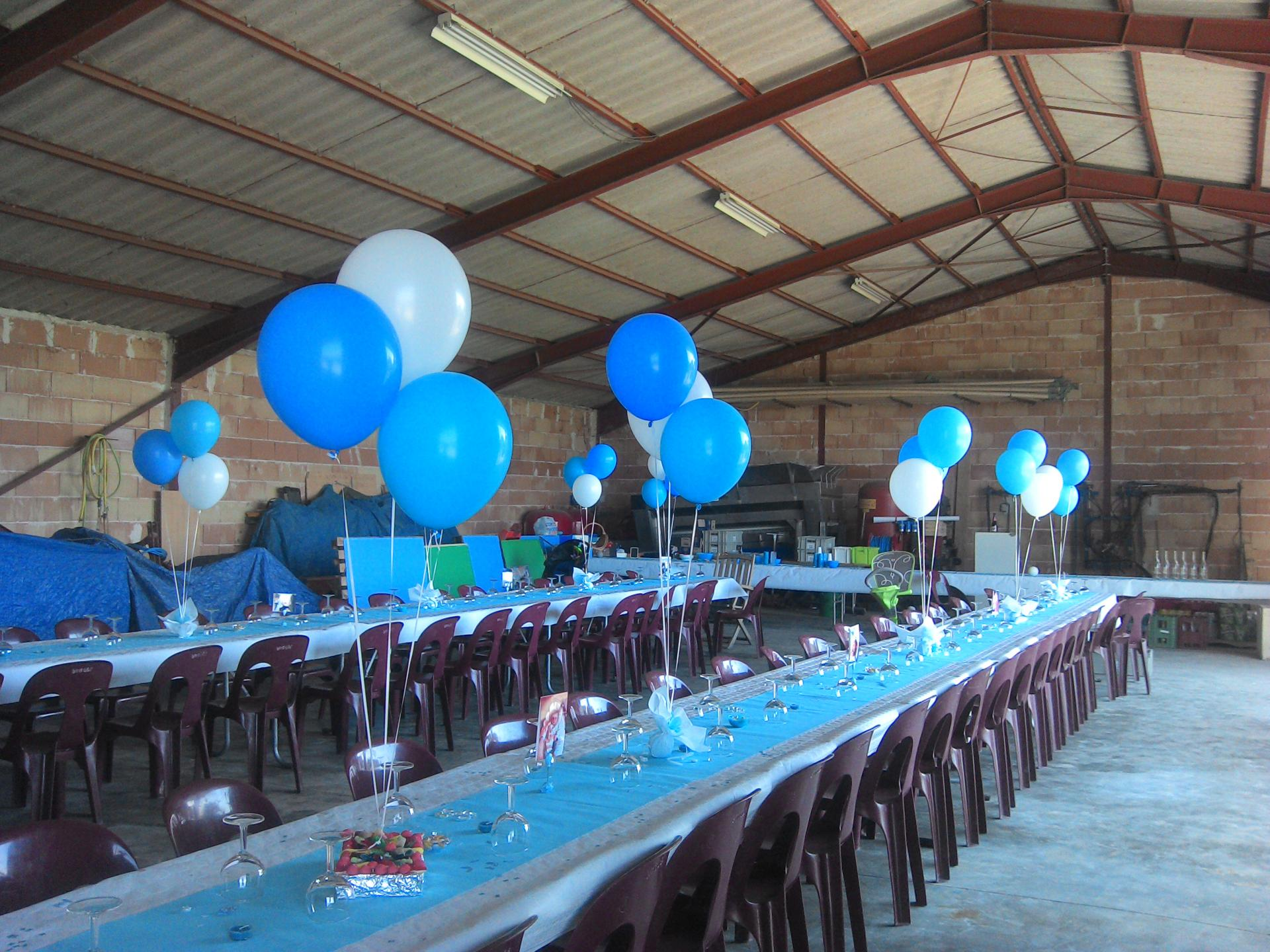 decoration bapteme garcon ballon