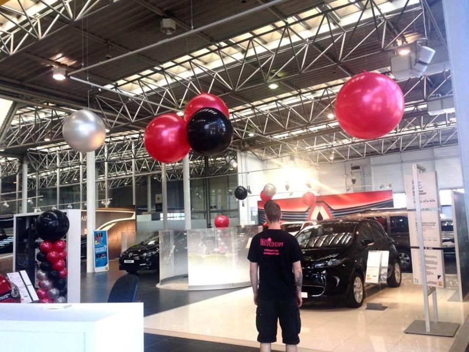 Ballons deco, concession Renault, lancement du Kadjar