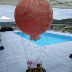 Montgolfière hélium mariage