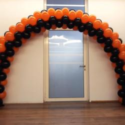 Arche Ballons 2 couleurs orange Bank