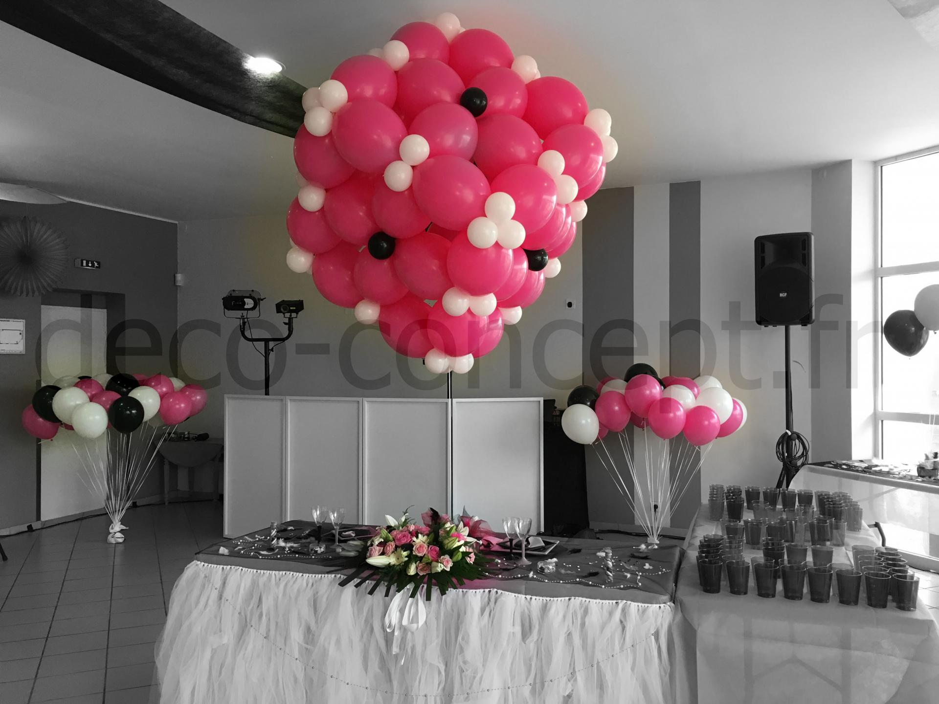 d coration ballons pour mariage prestation d cor en ballon. Black Bedroom Furniture Sets. Home Design Ideas