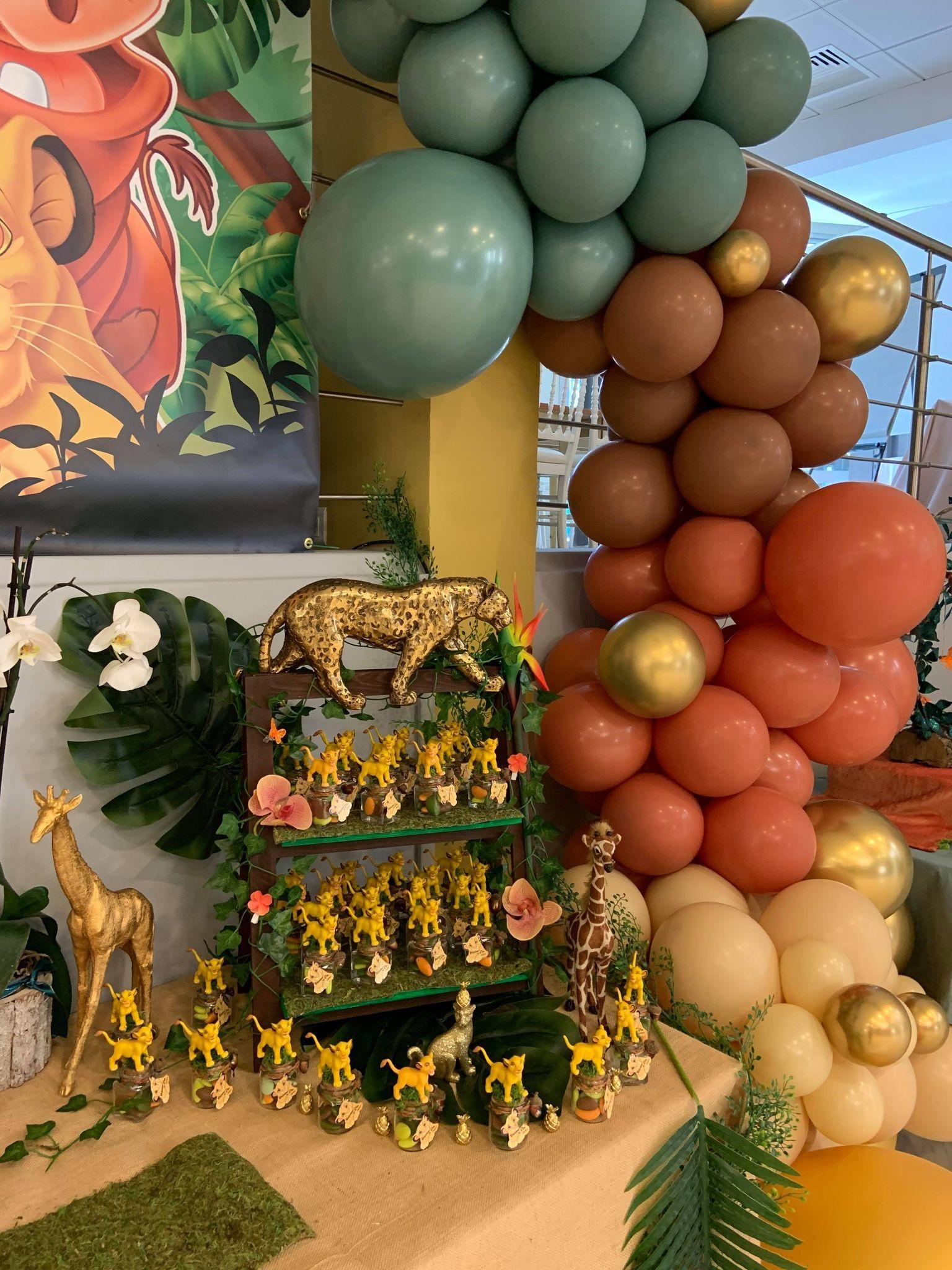 Ballon organique bapteme decoration