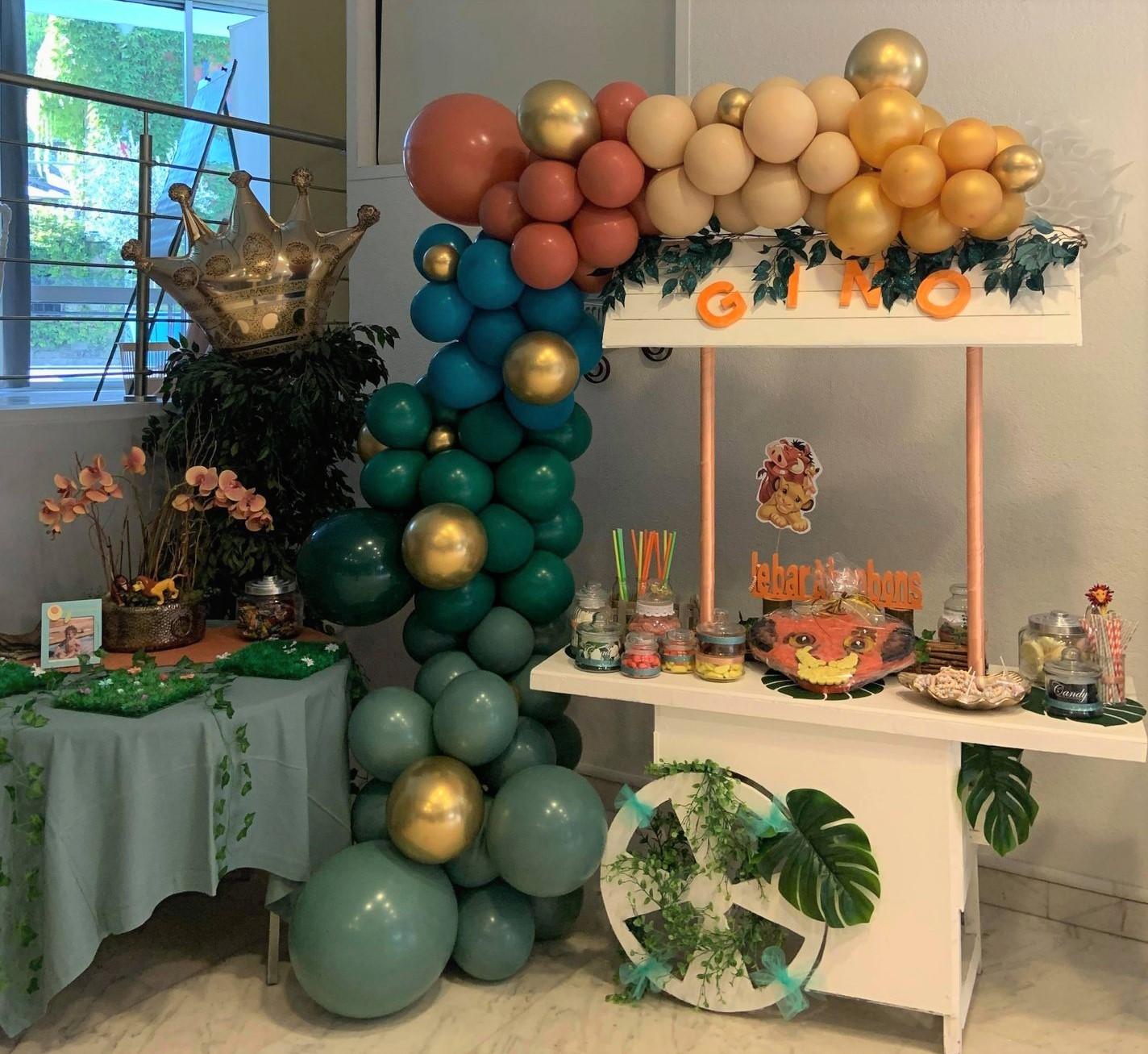 Ballon organique guirlande candy bar