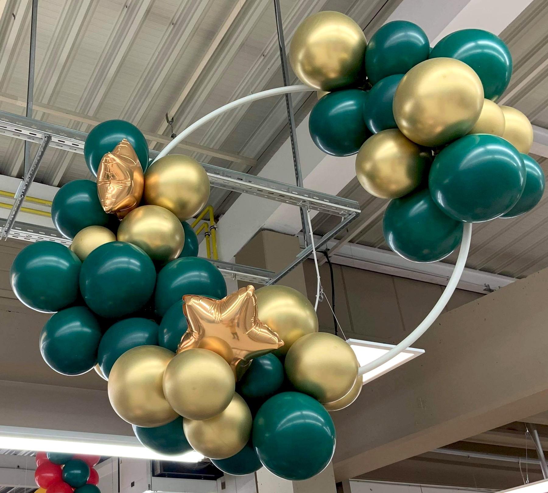 Cerceau ballon organique vert et or