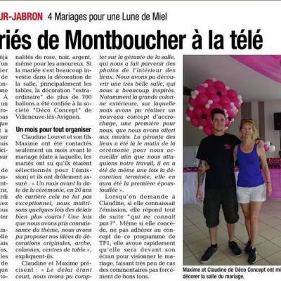 Décoration Mariage pour 4 mariage une lune de miel TF1