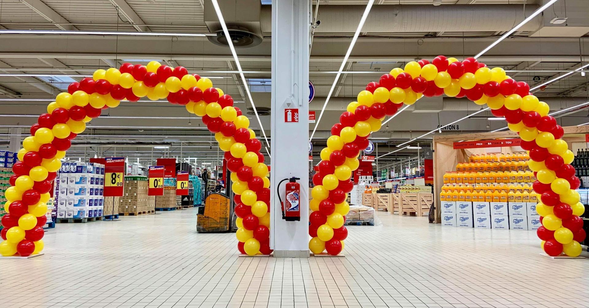 Arche entrée magasin inauguration