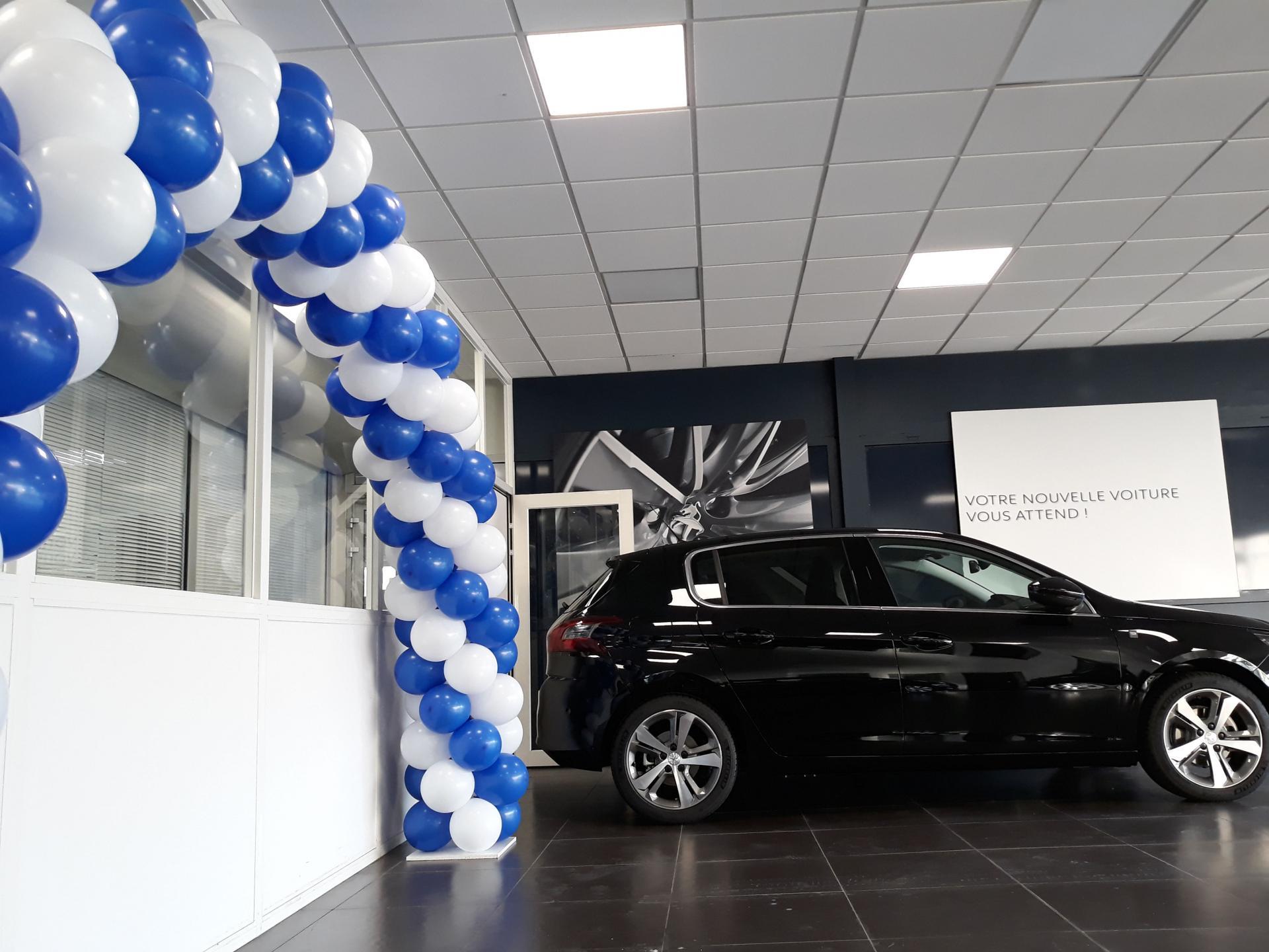 Arche ballon portes ouvertes Peugeot