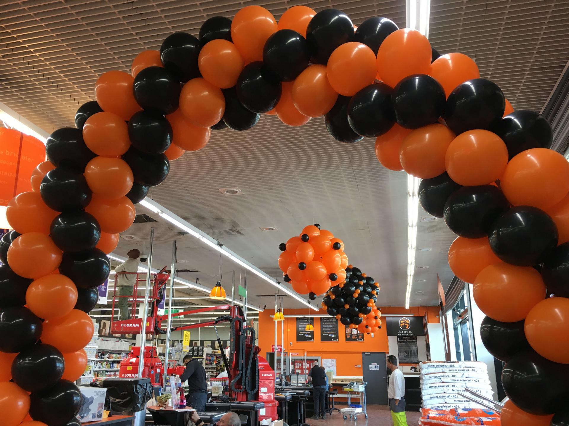 Inauguration magasin avec ballons