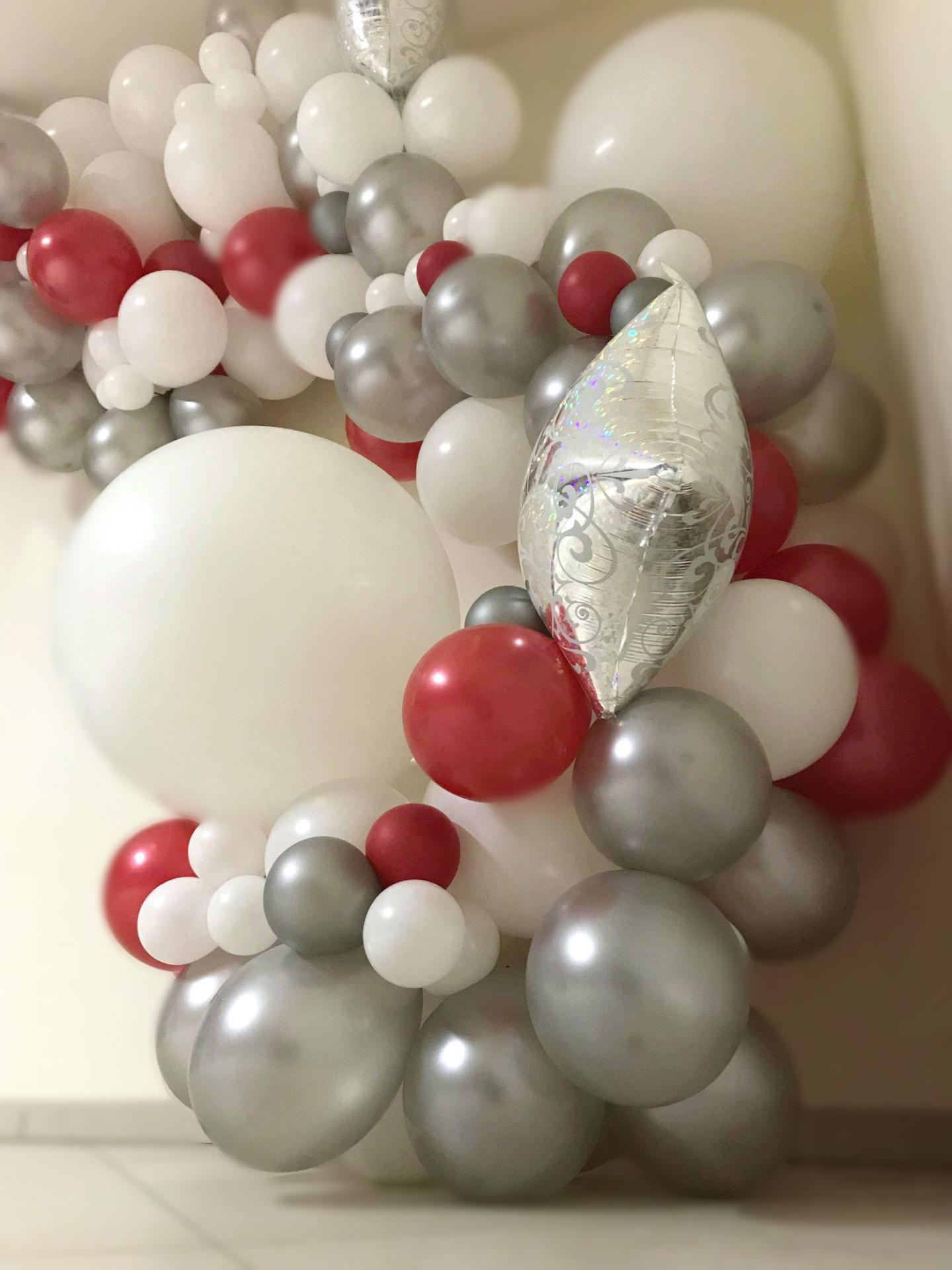 Structure Ballons en organique Noël