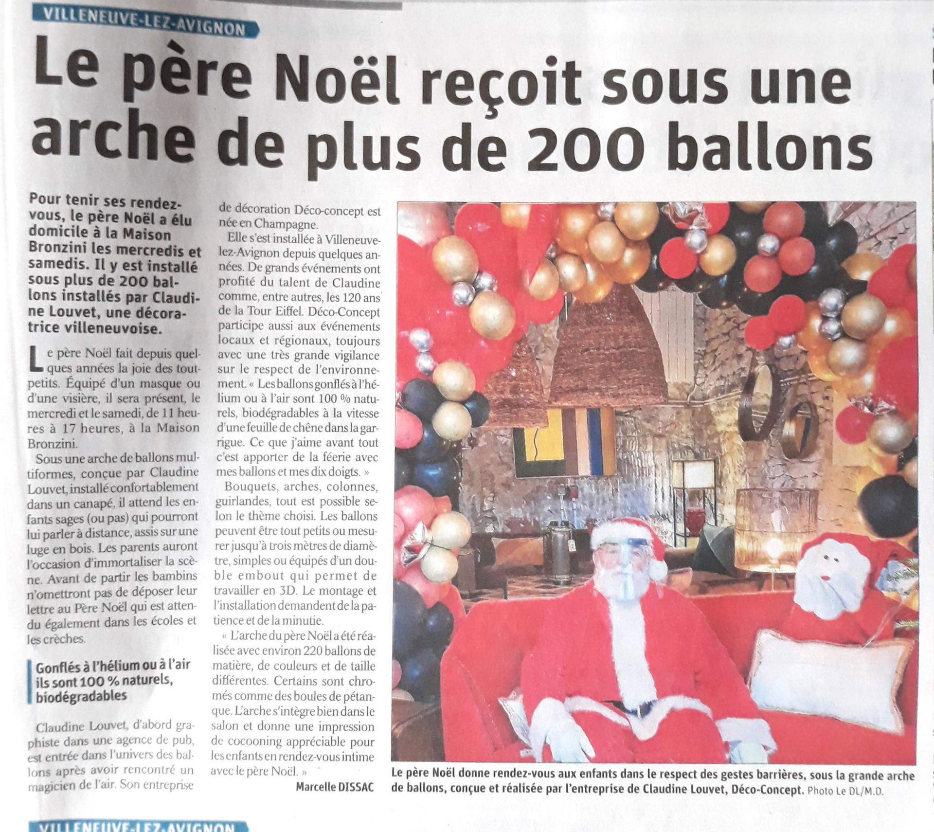 Article de presse decoration ballon organique