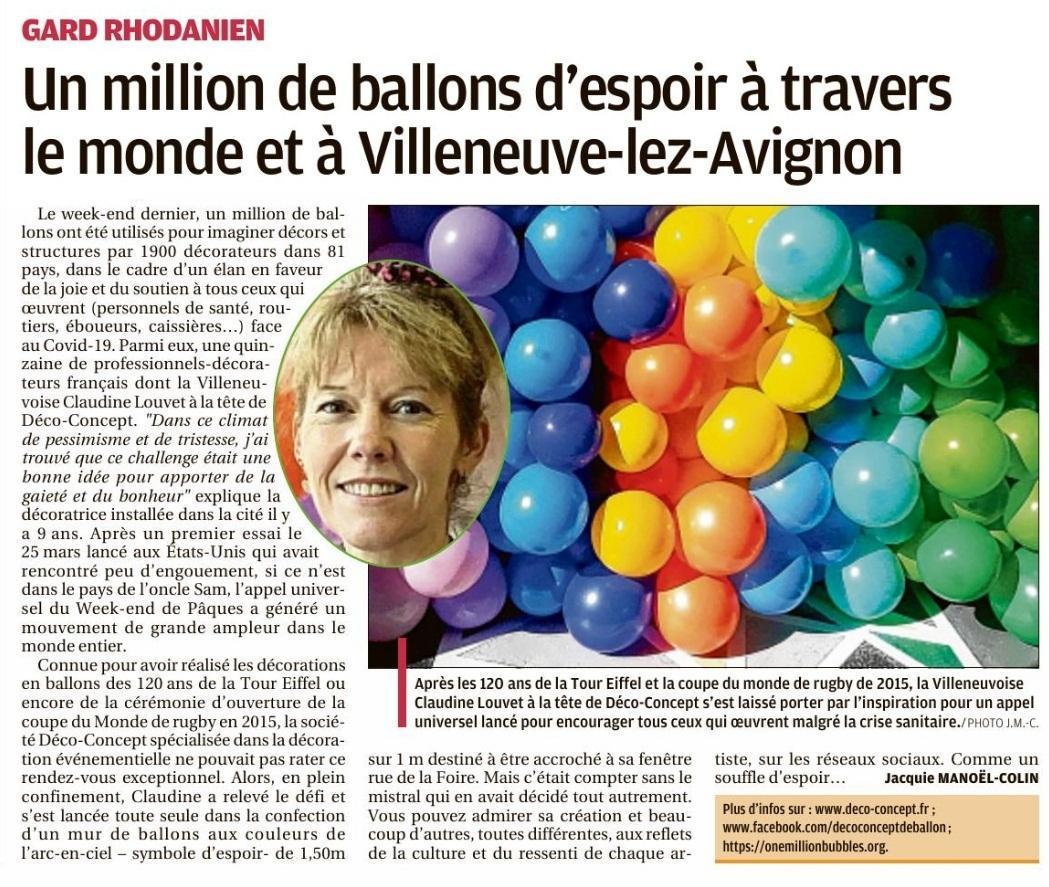 Article presse one million bubbles deco concept