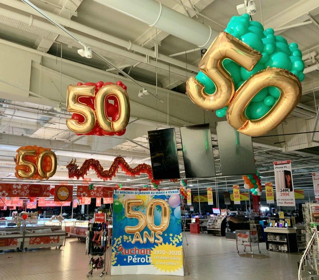 50 ans magasin Auchan