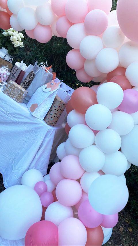 Organique Ballon Arche Baby Shower Fille