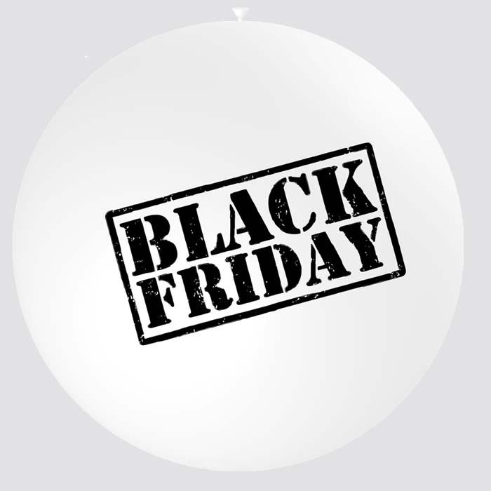 Ballon géant black friday