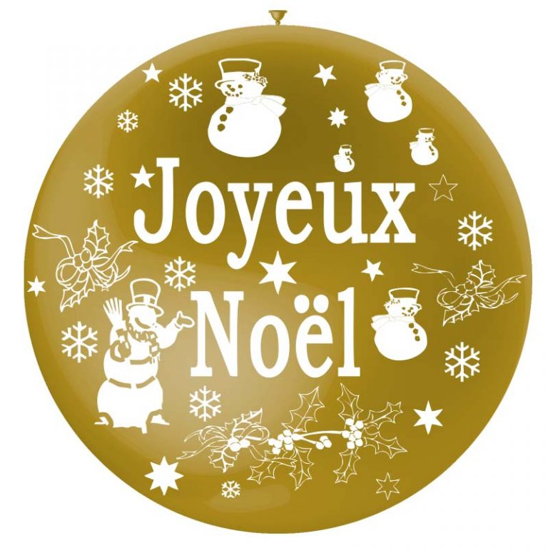 Joyeux Noël sur gros ballon or