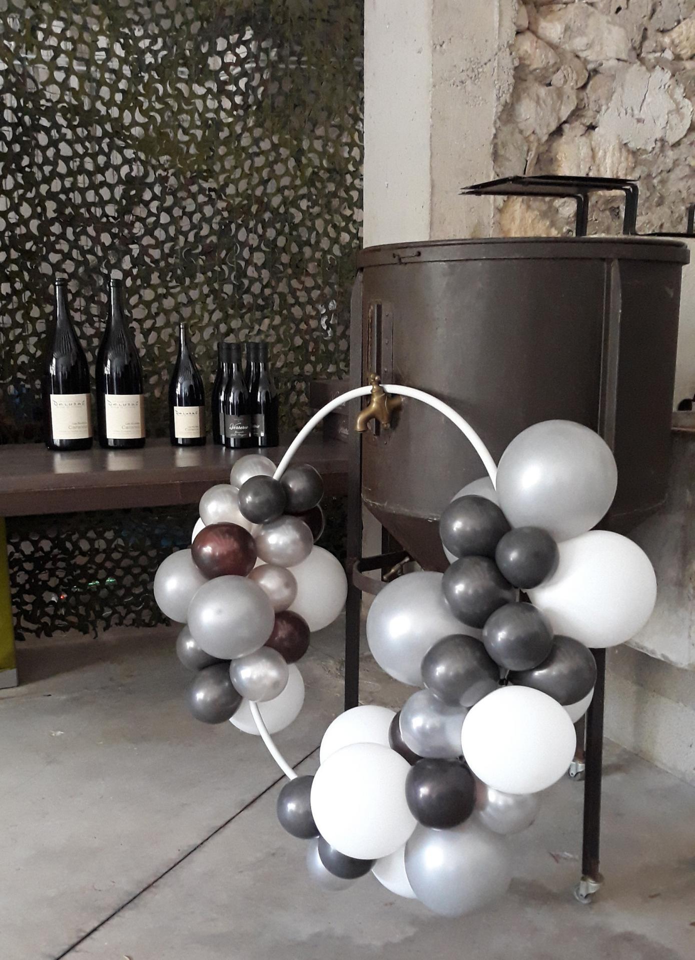 Ballon Organique pour Décor réception oenologique