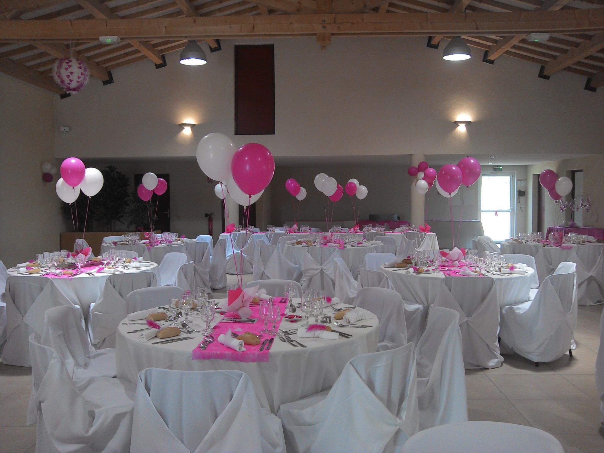 Hélium décoration salle mariage