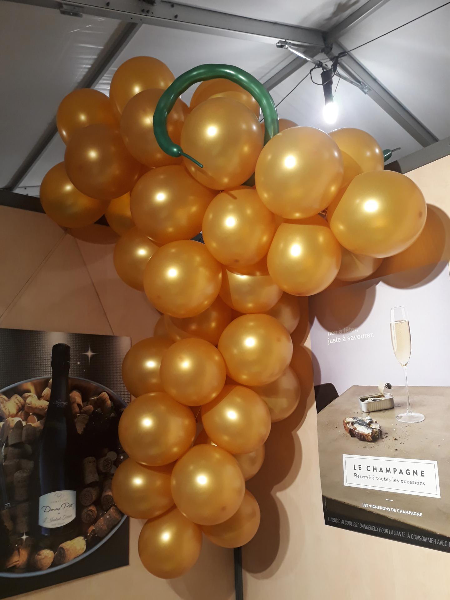 Stand Vin Champagne Décoration avec Grappe
