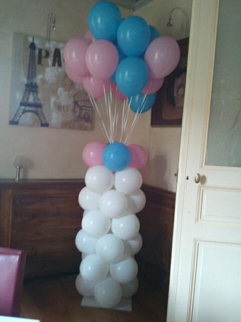 Colonne ballon rose & bleu