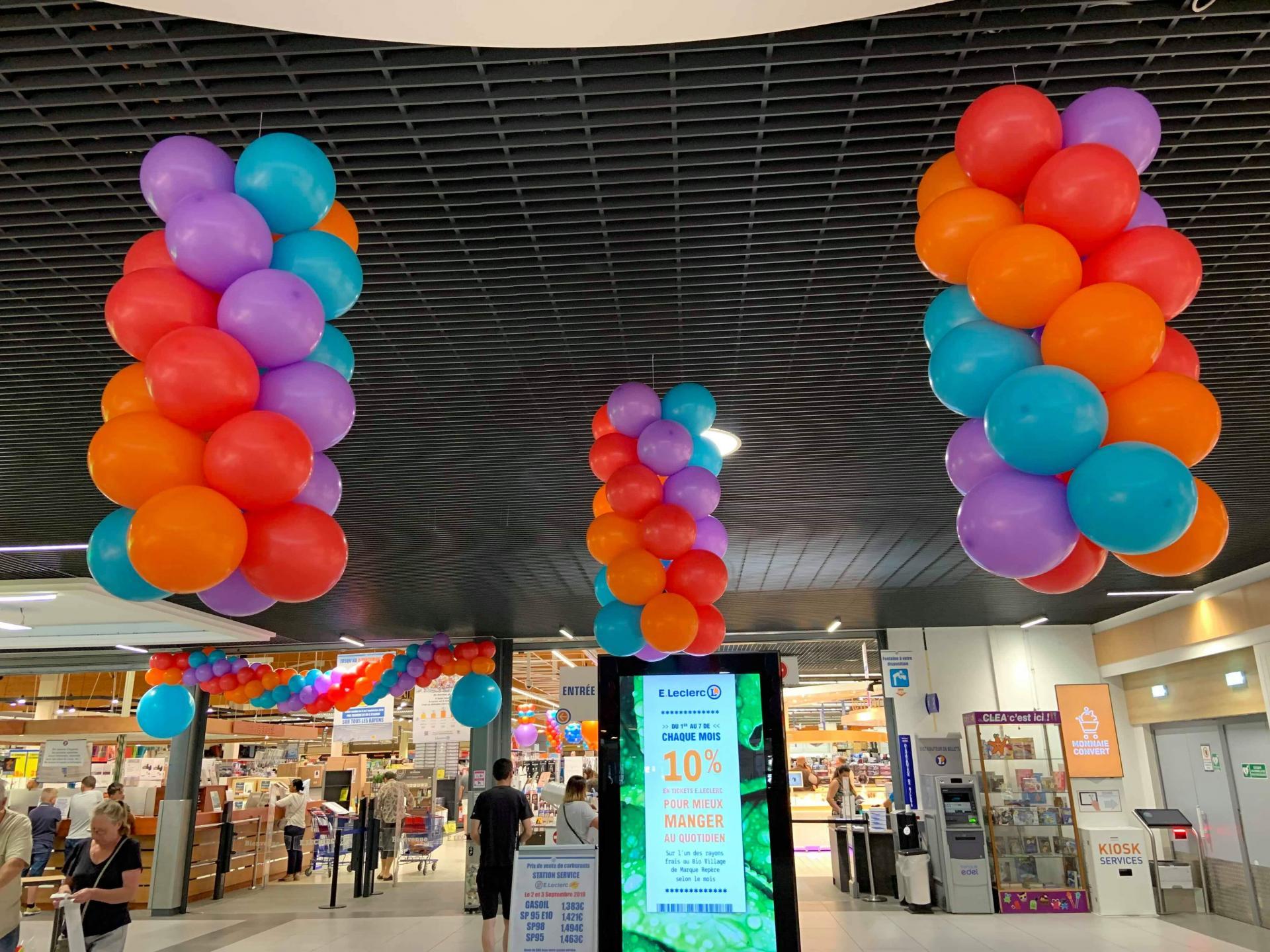 Ballon décoration magasin