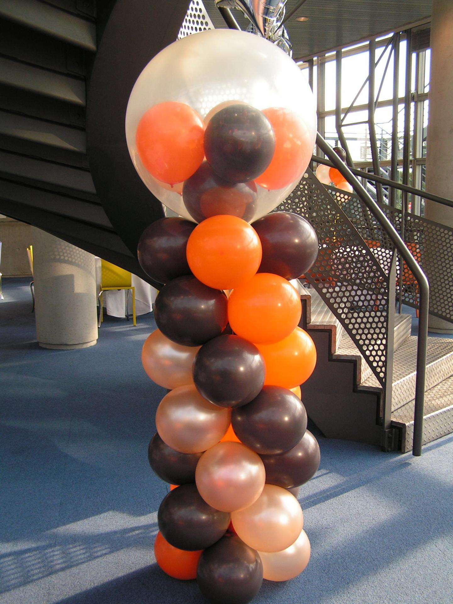 Colonne de Ballons avec gros ballon