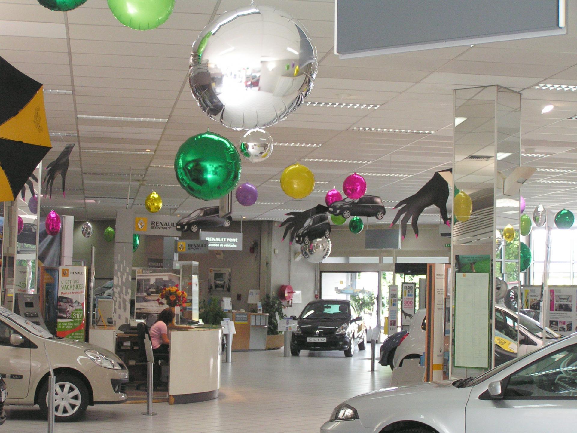 Décoration pour Show Room de concession automobile